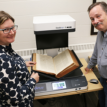 Scanning history at the Laurier Archives