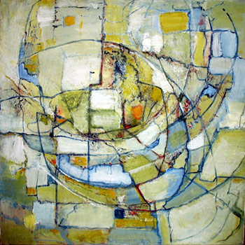 Image of abstract painting by artist Arlene Laskey