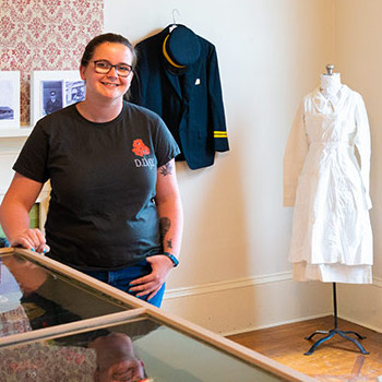 Laurier student curator tells Brantford's history through uniforms