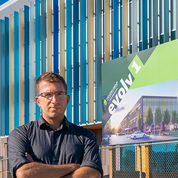 The Cora Group's net-positive energy building, Evolv1, opened Nov. 29. Read about researcher Manuel Riemer's involvement.