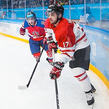 Golden Hawks hockey forward helps lead Canada to victory over Great Britain at Universiade
